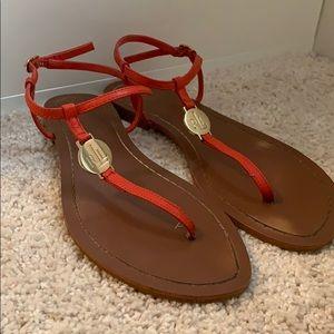 Ralph Lauren Red Ankle Strap Sandal